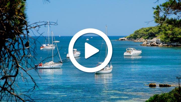 La région autour d'Antibes